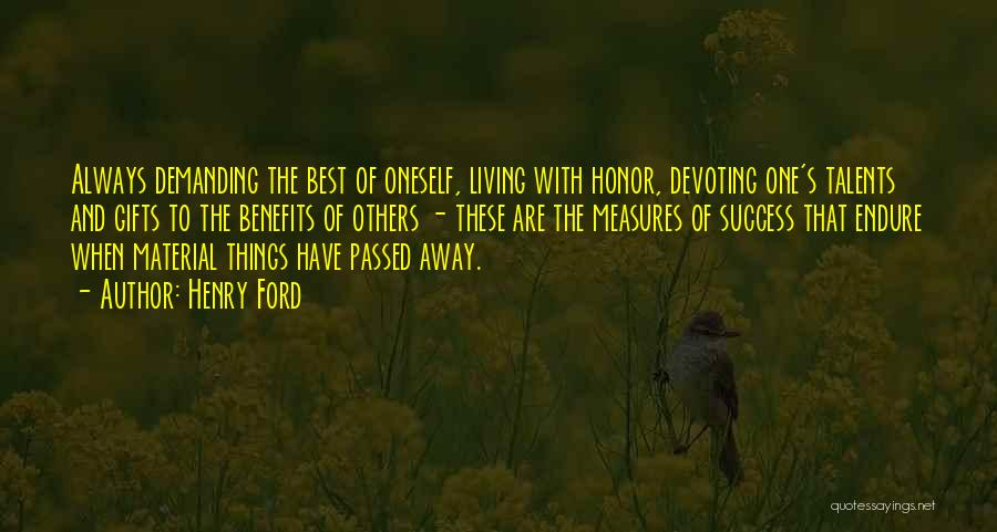 Passed Away Quotes By Henry Ford