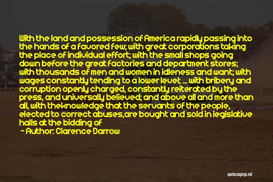 Passing Down Knowledge Quotes By Clarence Darrow