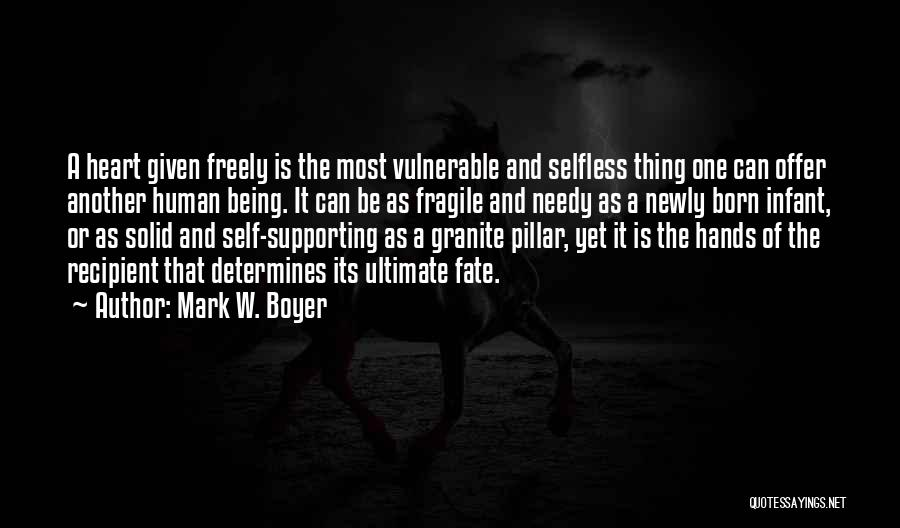 Passion And Commitment Quotes By Mark W. Boyer