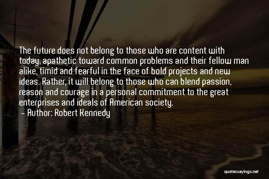 Passion And Commitment Quotes By Robert Kennedy