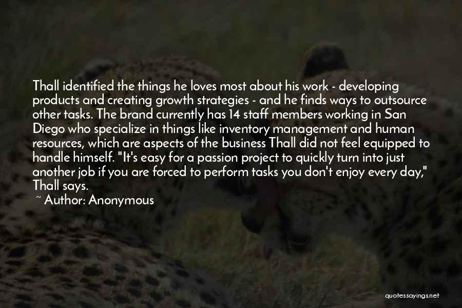 Passion In Business Quotes By Anonymous