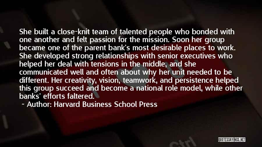 Passion In Business Quotes By Harvard Business School Press