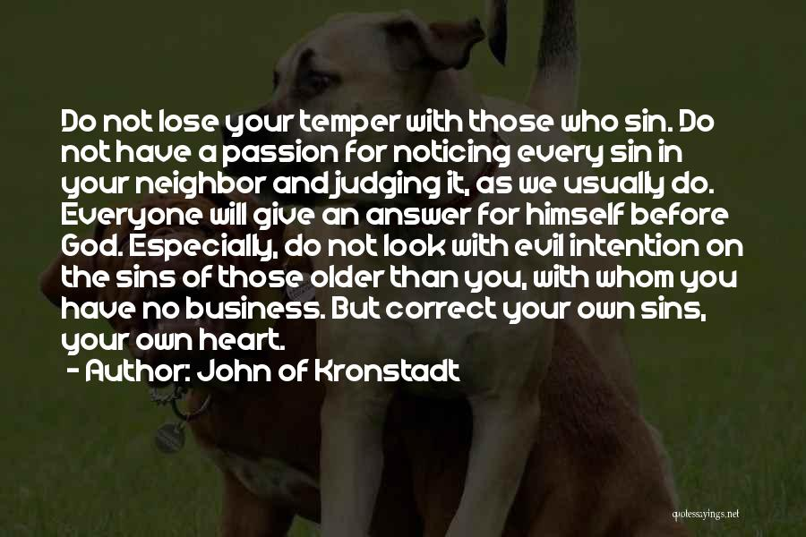 Passion In Business Quotes By John Of Kronstadt