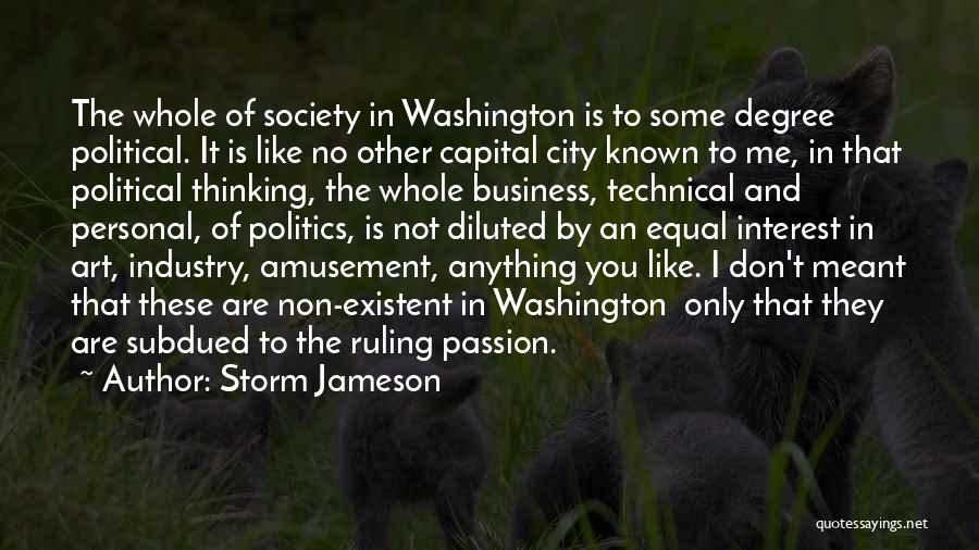 Passion In Business Quotes By Storm Jameson