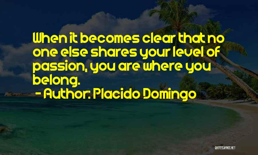 Passion Quotes By Placido Domingo