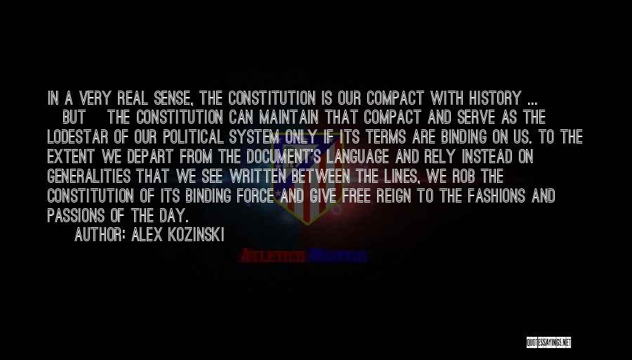Passion To Serve Quotes By Alex Kozinski