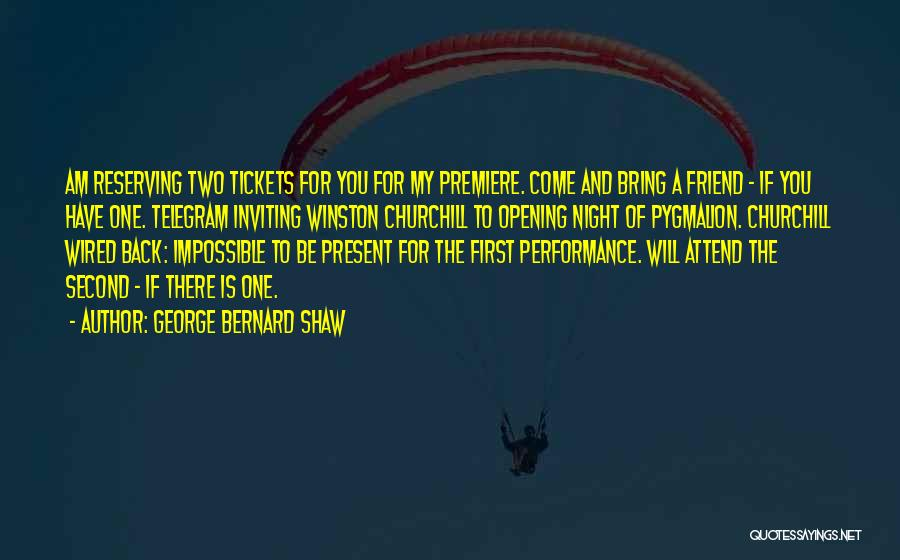 Past And Present Friendship Quotes By George Bernard Shaw