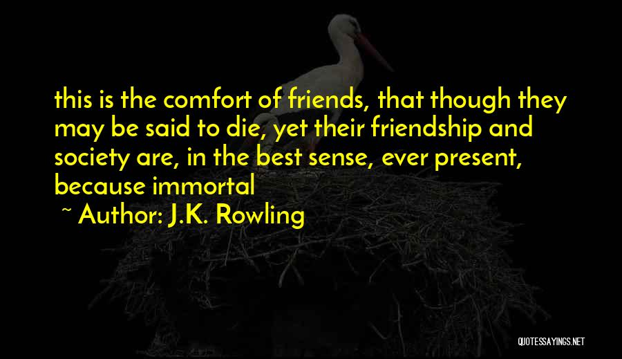 Past And Present Friendship Quotes By J.K. Rowling