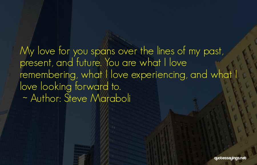 Past Present Future Love Quotes By Steve Maraboli
