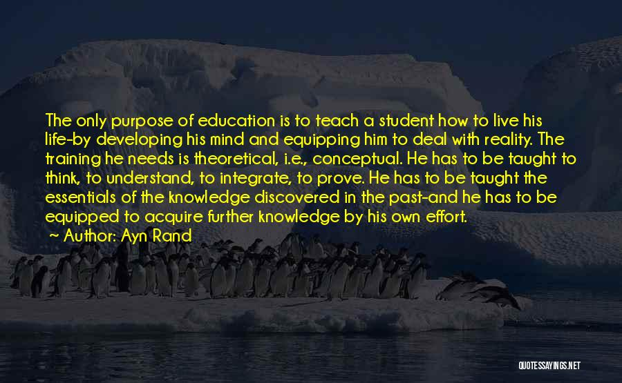 Past School Life Quotes By Ayn Rand