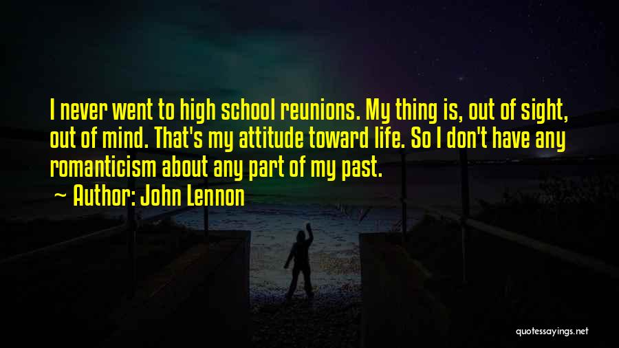 Past School Life Quotes By John Lennon