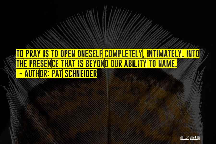 Pat Schneider Quotes 325193