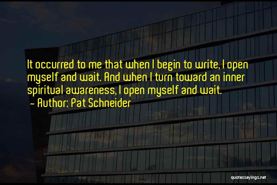 Pat Schneider Quotes 883729