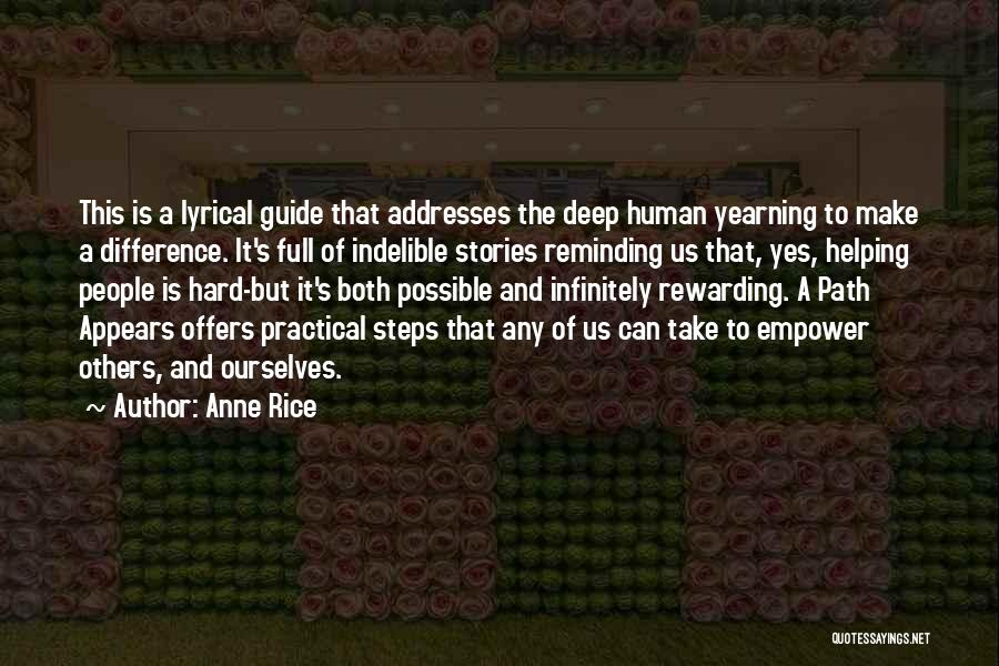 Path Quotes By Anne Rice