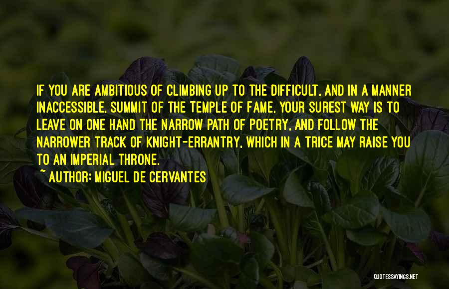 Path Quotes By Miguel De Cervantes