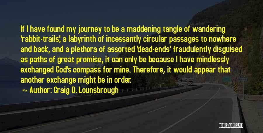 Path To Nowhere Quotes By Craig D. Lounsbrough