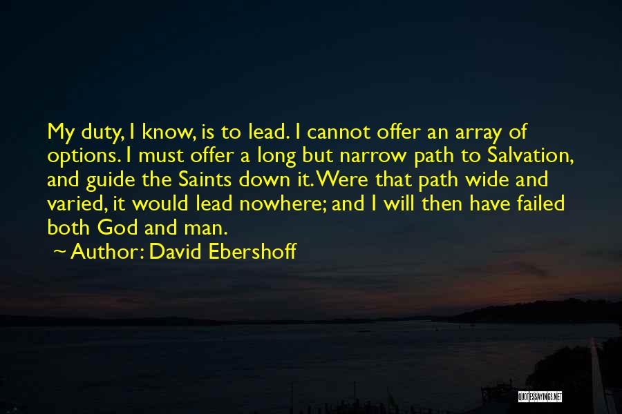 Path To Nowhere Quotes By David Ebershoff