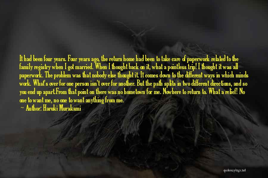 Path To Nowhere Quotes By Haruki Murakami