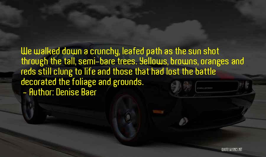 Path Walked Quotes By Denise Baer