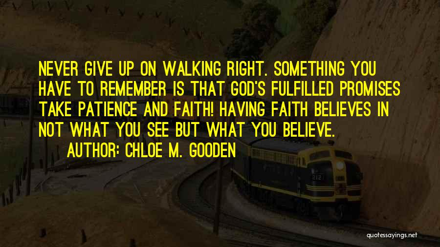 Patience And Faith In God Quotes By Chloe M. Gooden