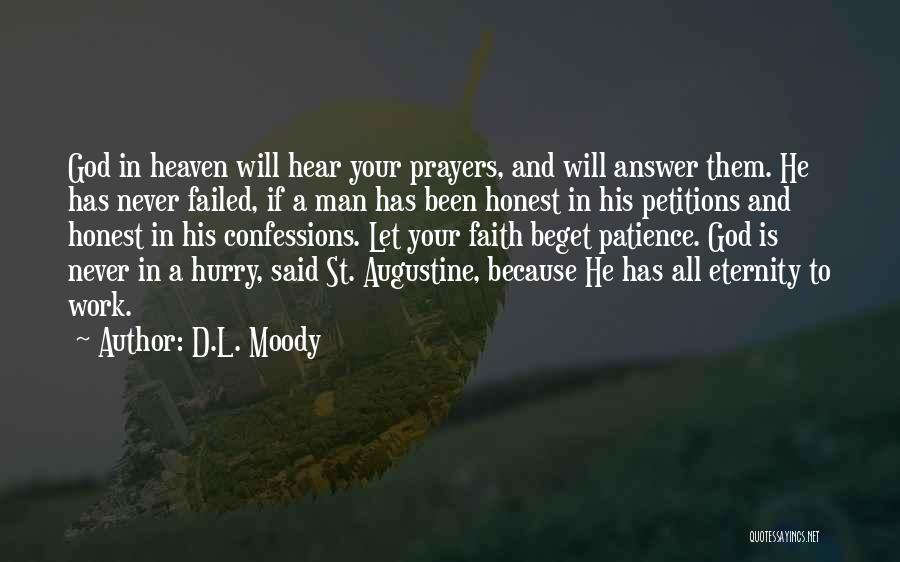 Patience And Faith In God Quotes By D.L. Moody