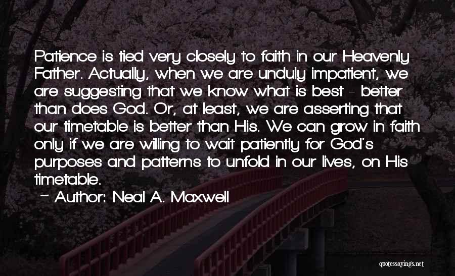 Patience And Faith In God Quotes By Neal A. Maxwell