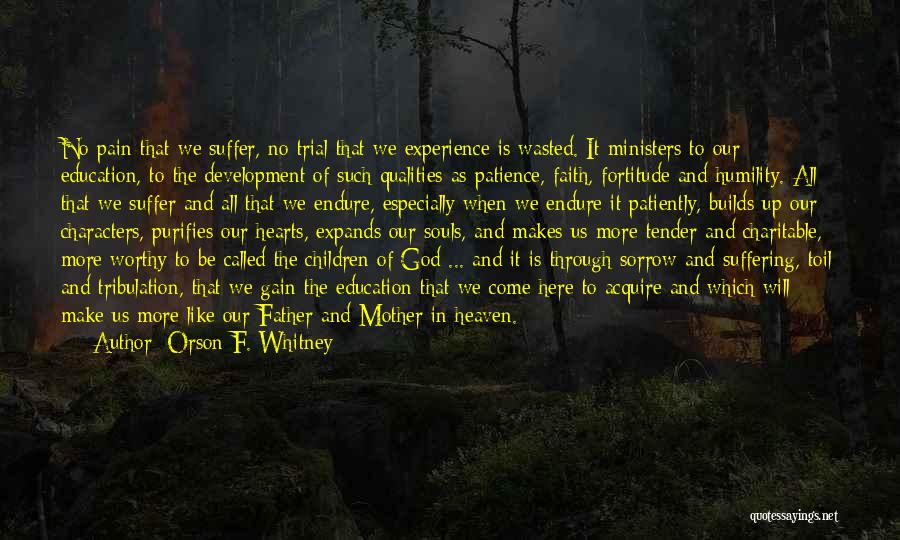Patience And Faith In God Quotes By Orson F. Whitney