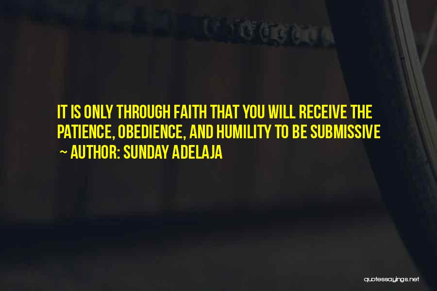 Patience And Faith In God Quotes By Sunday Adelaja