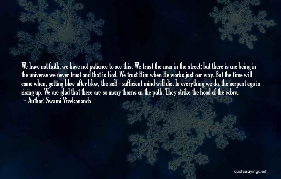 Patience And Faith In God Quotes By Swami Vivekananda