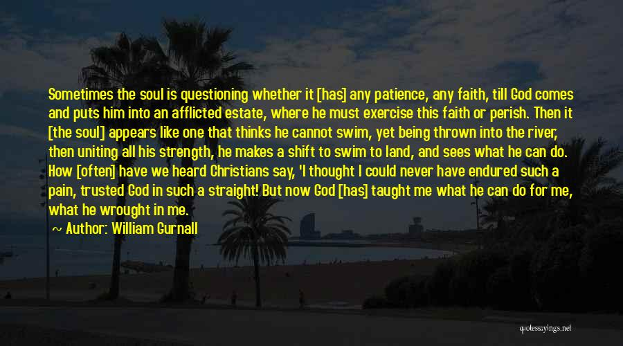 Patience And Faith In God Quotes By William Gurnall