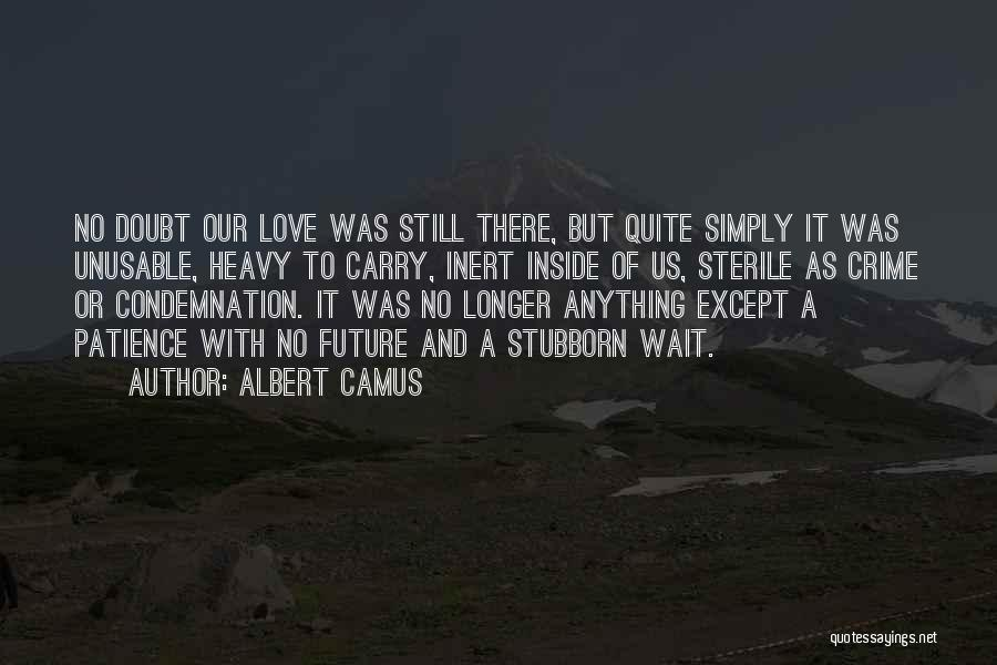 Patience And Love Quotes By Albert Camus