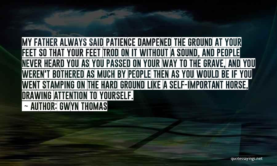 Patience And Quotes By Gwyn Thomas