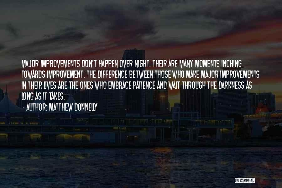 Patience And Quotes By Matthew Donnelly