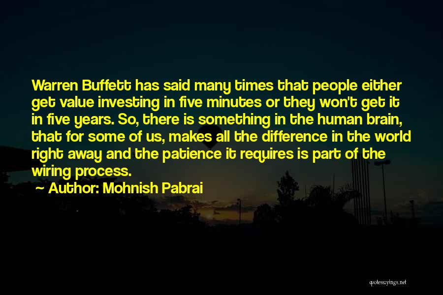 Patience And Quotes By Mohnish Pabrai