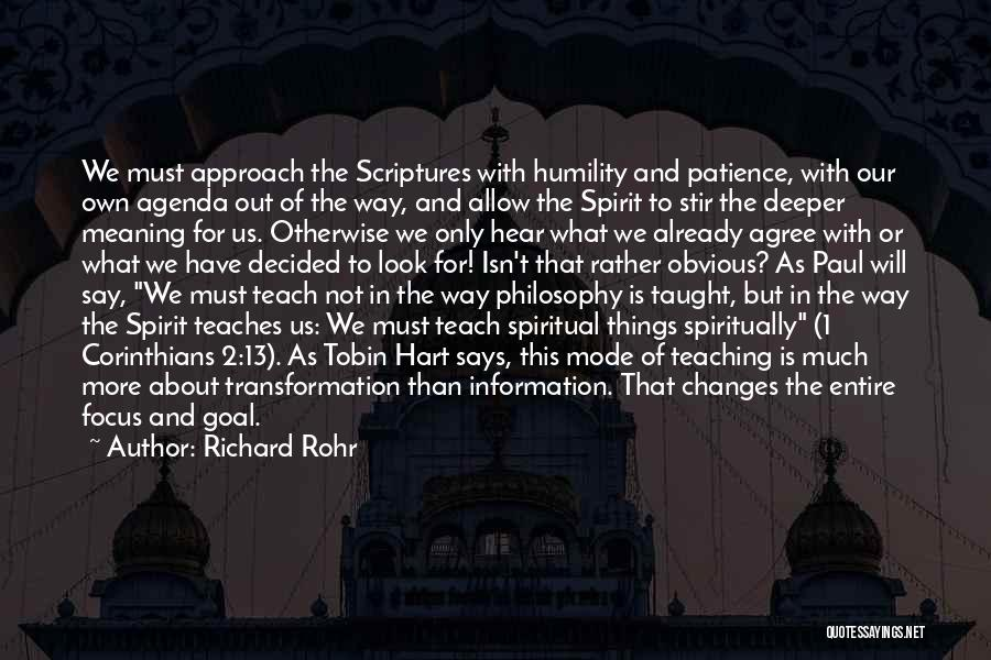 Patience And Quotes By Richard Rohr