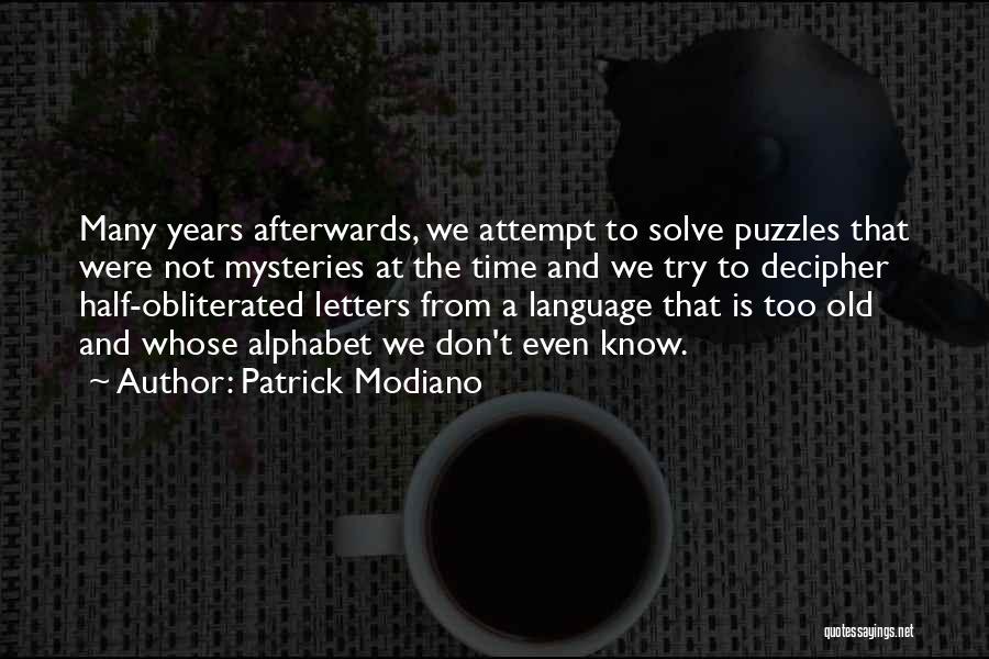 Patrick Modiano Quotes 272930