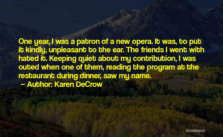 Patron Quotes By Karen DeCrow
