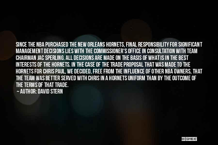 Paul Case Quotes By David Stern