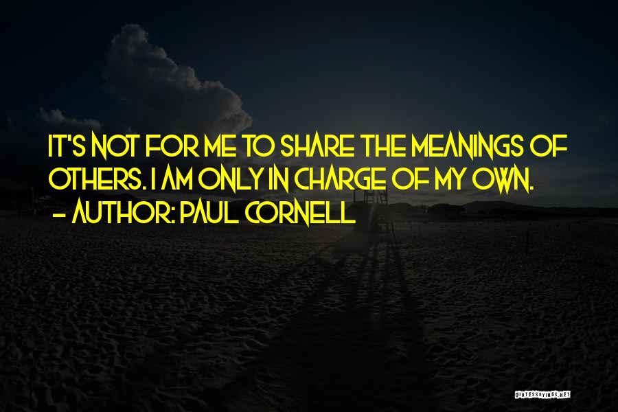 Paul Cornell Quotes 831495