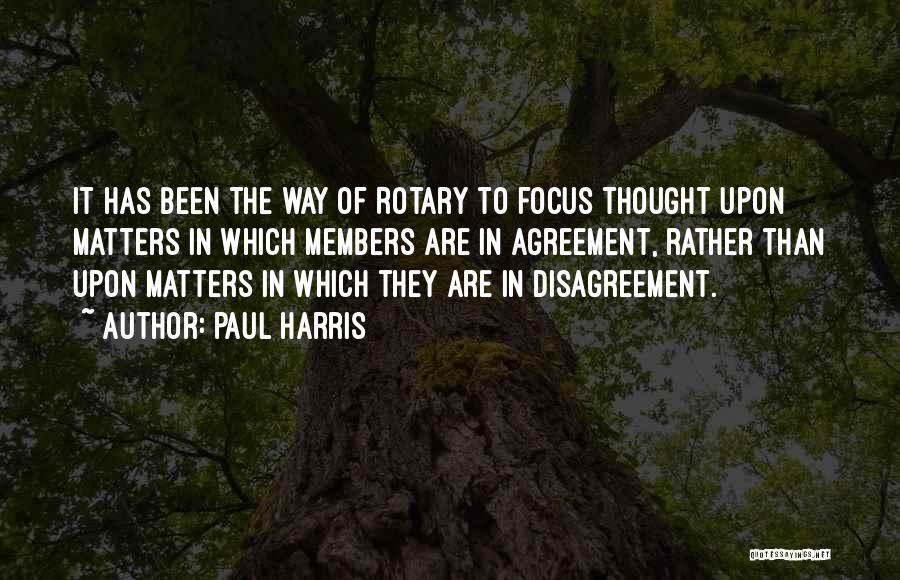 Paul Harris Quotes 301841