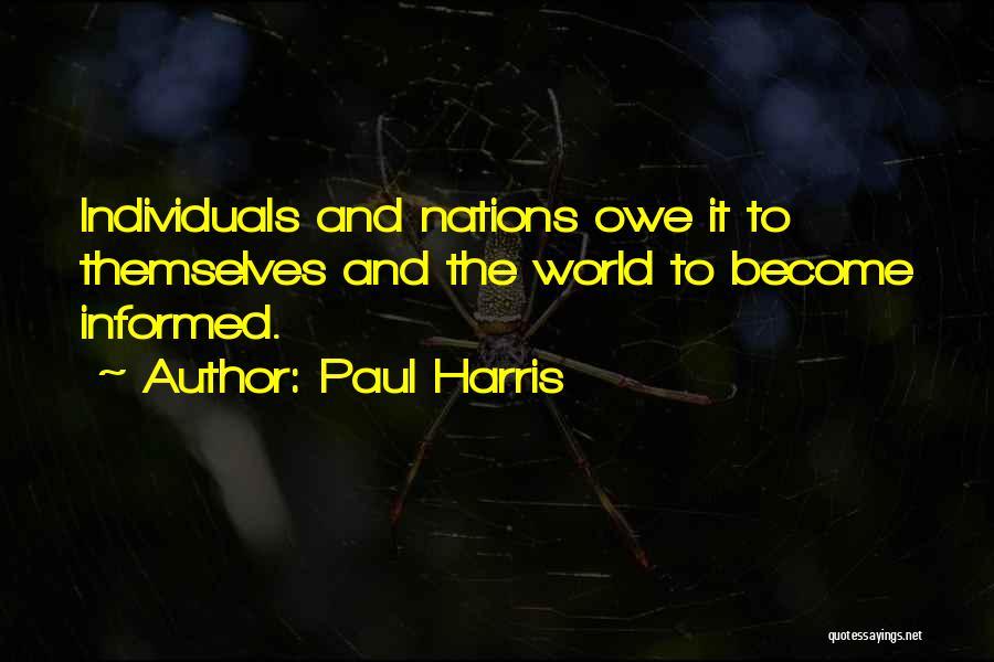 Paul Harris Quotes 93914