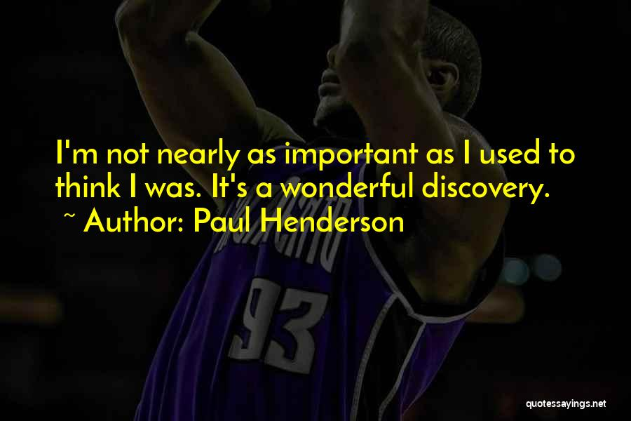 Paul Henderson Quotes 1367022