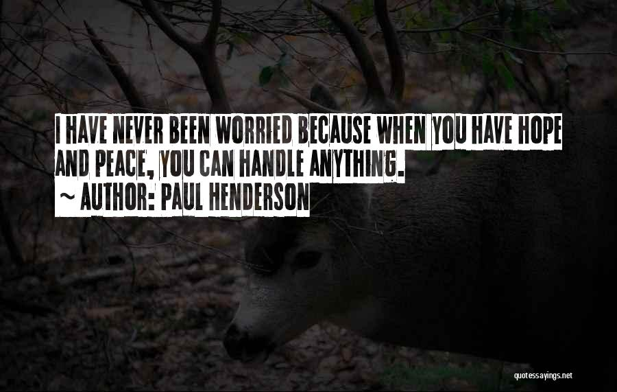 Paul Henderson Quotes 253351