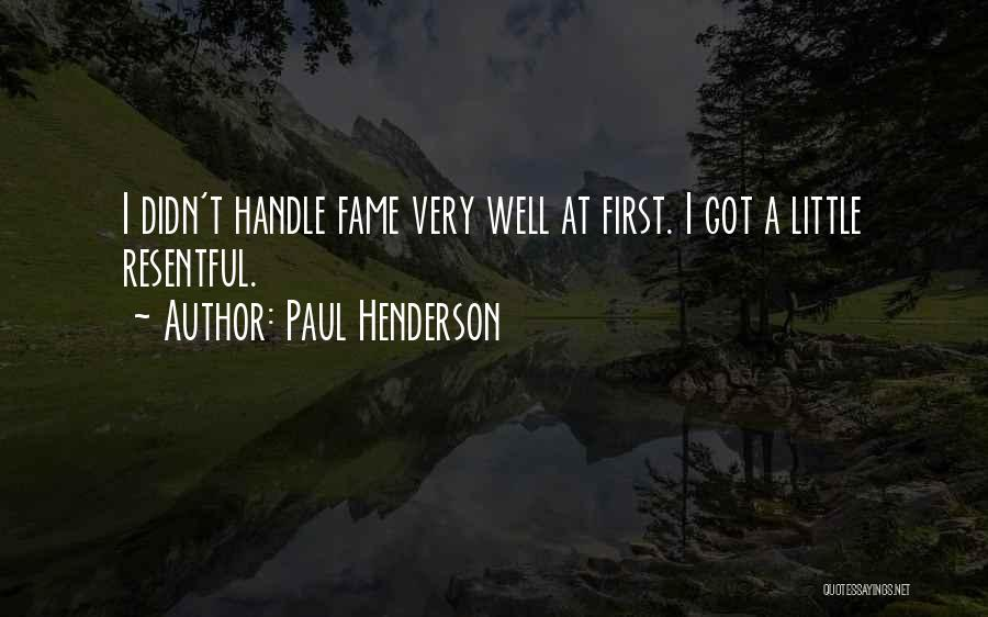Paul Henderson Quotes 460715