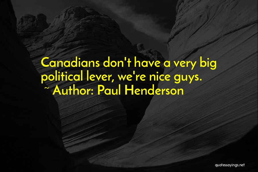 Paul Henderson Quotes 767634