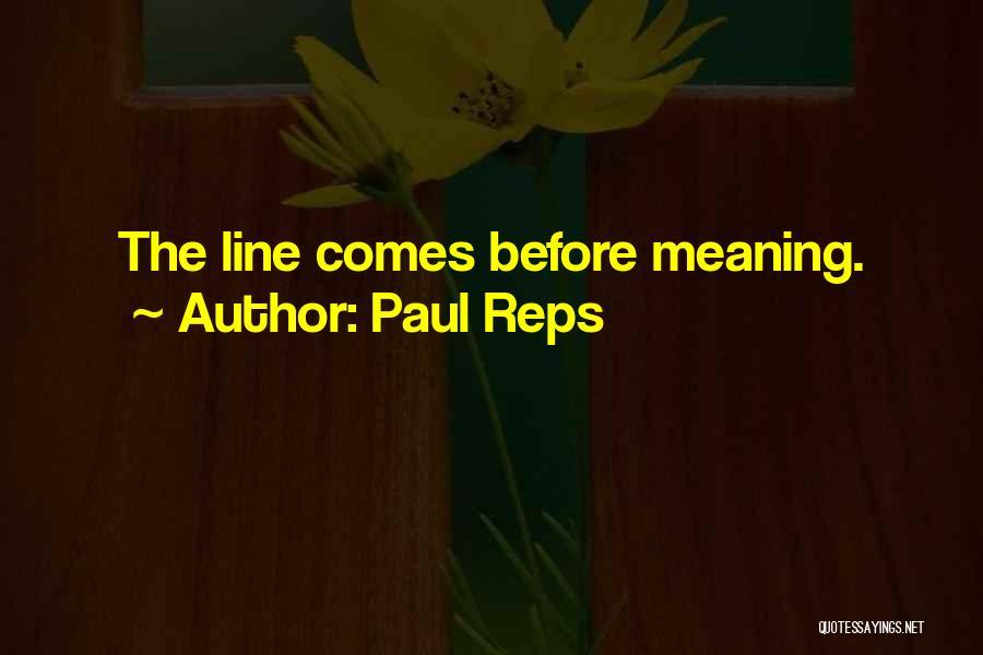 Paul Reps Quotes 1017836