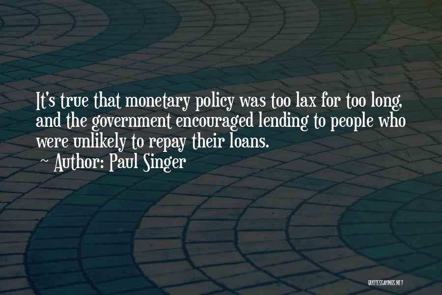 Paul Singer Quotes 1698011