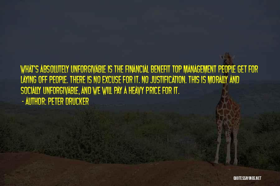 Pay And Benefits Quotes By Peter Drucker