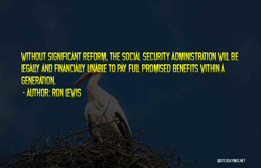 Pay And Benefits Quotes By Ron Lewis
