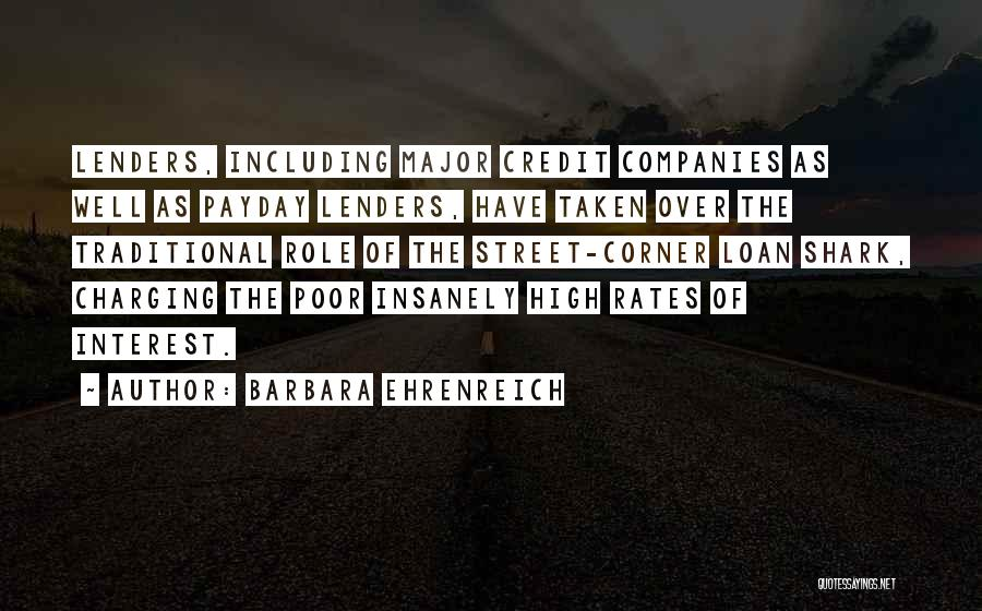 Payday Lenders Quotes By Barbara Ehrenreich